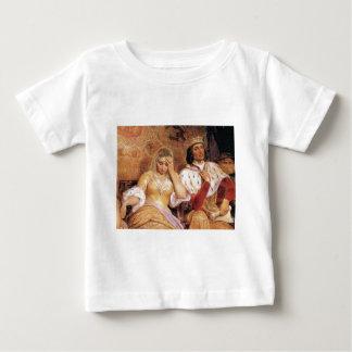 eerlijke koningin en koning baby t shirts