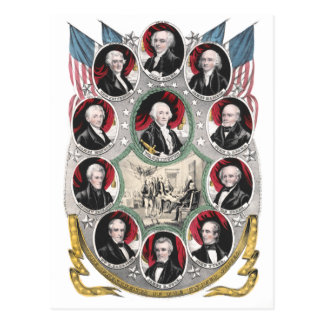 Eerst Tien Presidenten van de Verenigde Staten Briefkaart