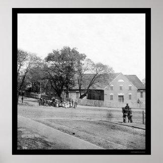 Eerste Afrikaanse Kerk in Richmond, VA 1865 Poster