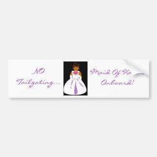 """""""Eerste bruidsmeisje aan boord van II"""" Sticker van Bumpersticker"""