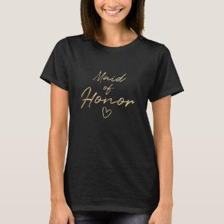 Eerste bruidsmeisje - de Gouden t-shirt van de
