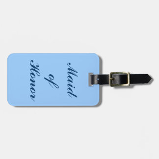 Eerste bruidsmeisje, het Blauwe Label van de Bagagelabel