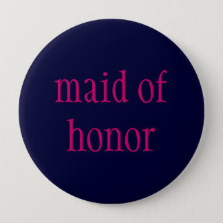 """eerste bruidsmeisje"" knoop ronde button 4,0 cm"