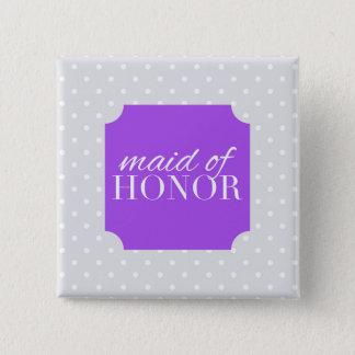eerste bruidsmeisje vierkante button 5,1 cm