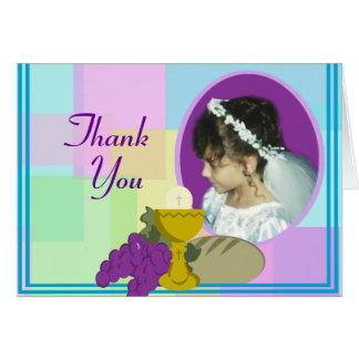 Eerste Communion/dankt u Briefkaarten 0