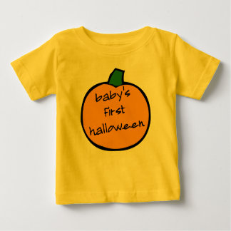 Eerste Halloween gele Punkin van de baby - Baby T Shirts