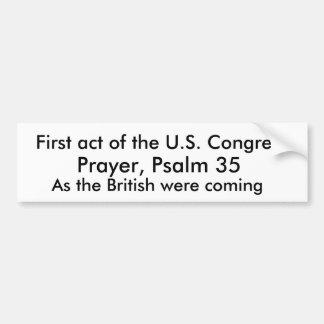 Eerste handeling van het Congres van de V.S., Bumpersticker