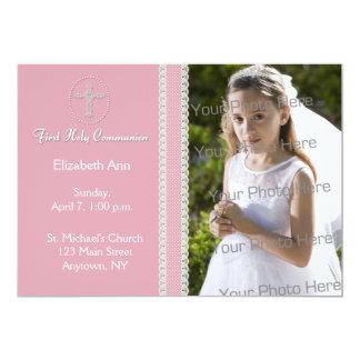 Eerste Heilige Communie, de Roze Uitnodiging van