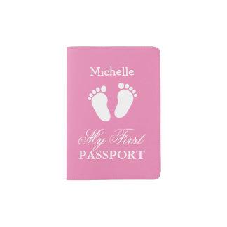 Eerste het paspoorthouder van het baby voor meisje paspoort houder