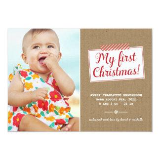 Eerste Kerstmis | Kaart van de Foto van de 12,7x17,8 Uitnodiging Kaart