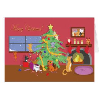 Eerste Kerstmis van katjes Kaart