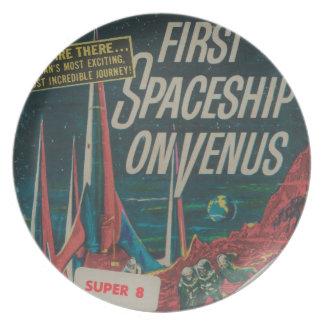 Eerste Ruimteschip op de Vintage Film Scifi van Melamine+bord