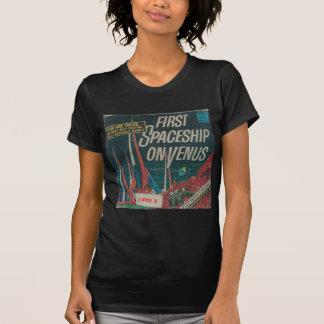 Eerste Ruimteschip op de Vintage Film Scifi van T Shirt