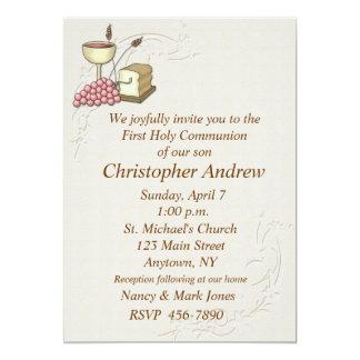 Eerste Tan van de Heilige Communie Uitnodiging