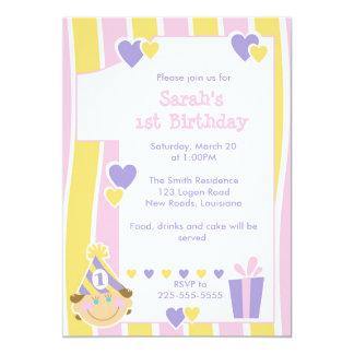 Eerste Verjaardag 12,7x17,8 Uitnodiging Kaart