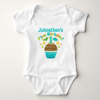 Eerste Verjaardag Cupcake (Jongens) Romper