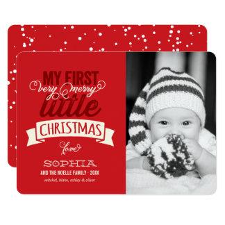 Eerste Vrolijk van de baby Weinig Kaart van de 12,7x17,8 Uitnodiging Kaart