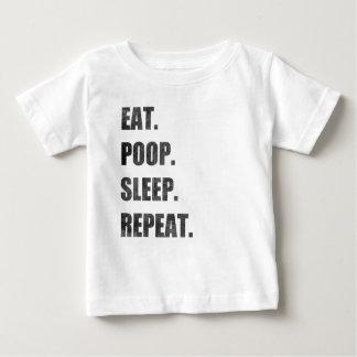 Eet. Achterschip. Slaap. Herhaal Baby T Shirts