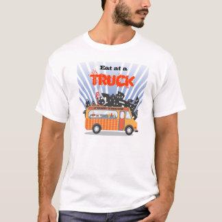 Eet bij een vrachtwagen, de t-shirt van de