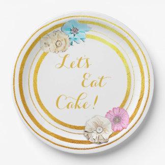 Eet Borden van het Document van de Cake de Roze & Papieren Bordjes