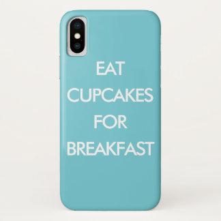 EET CUPCAKES VOOR turkoois iPhoneHoesje van het iPhone X Hoesje