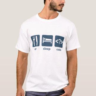 Eet de Code van de Slaap T Shirt