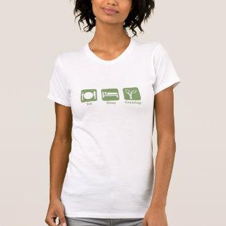 Eet de Genealogie van de Slaap T Shirt