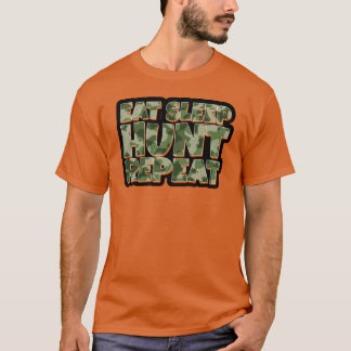 Eet de Jacht van de Slaap herhalen de Grappige T Shirt