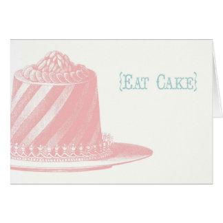 Eet de Kaart van de Verjaardag van de Cake