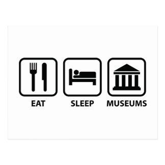 Eet de Musea van de Slaap Briefkaart