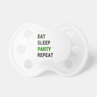 Eet de Partij van de Slaap herhalen Baby Speentje