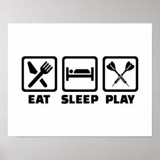 Eet de Pijltjes van het Spel van de Slaap Poster