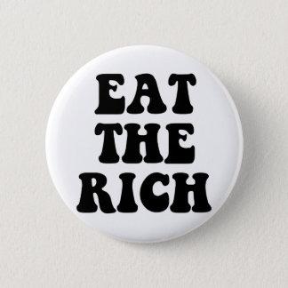Eet de Rijken bezetten Wall Street Ronde Button 5,7 Cm