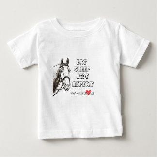 Eet de Rit van de Slaap herhalen Baby T Shirts
