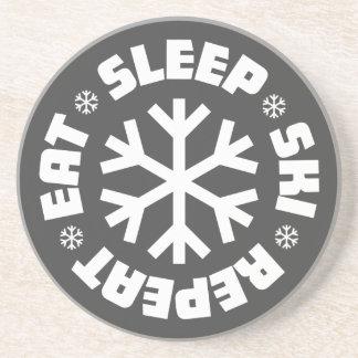 Eet de Ski van de Slaap herhalen Onderzetter