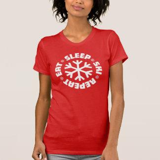 Eet de Ski van de Slaap herhalen (witte grafisch) T Shirt
