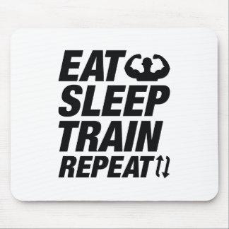 Eet de Trein van de Slaap herhalen Muismatten