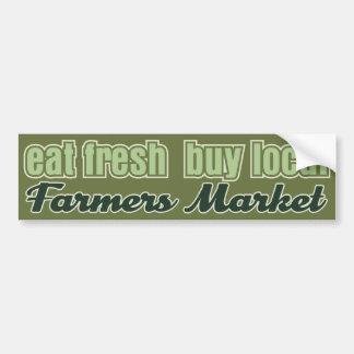 Eet de Verse Markt van Landbouwers Bumpersticker