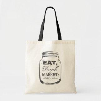 Eet drank & ben de gehuwde zak van het het draagtas