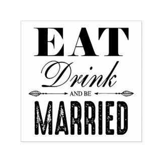 Eet Drank en ben Gehuwd Huwelijk Zelfinktende Stempel