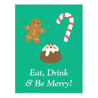 Eet Drank en ben Vrolijk met de Zoetigheden van Briefkaart