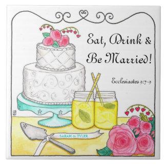 Eet, drink & ben de Gehuwde Klantgerichte Tegel Keramisch Tegeltje