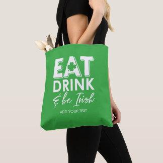 Eet, drink & ben Ierse Koele St. Patrick Dag Draagtas