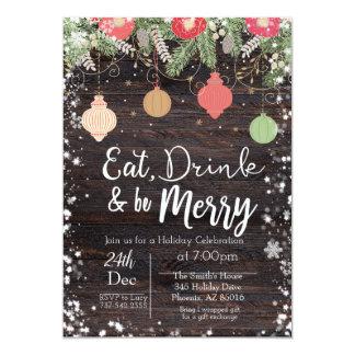 Eet, drink & ben Vrolijke Kerstkaart, Kaart