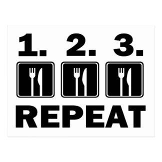 Eet eten eten en herhalen briefkaart