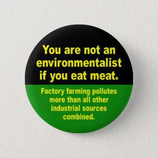 eet geen vlees ronde button 5,7 cm