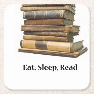Eet Gelezen Slaap Vierkante Onderzetter