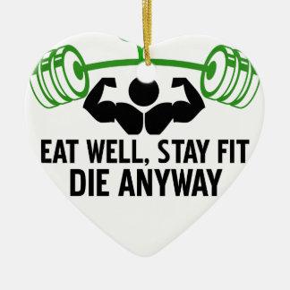 eet goed, verblijfs geschikte matrijs die hoe dan keramisch hart ornament