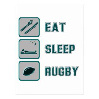 Eet het Rugby van de Slaap Briefkaart