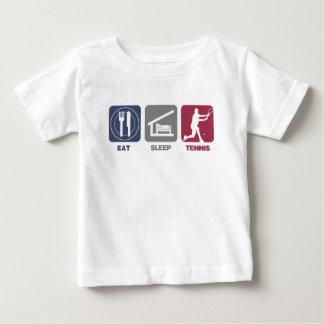 Eet het Tennis van de Slaap - Kerel 1 Baby T Shirts